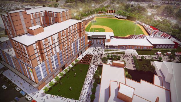 Segra-Stadium-Entrance-Aerial-View_e2e79ec8-5056-a348-3a8f35120b363595